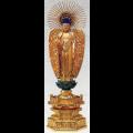 ●仏像:単品売・中七・如来 肌粉(西立...